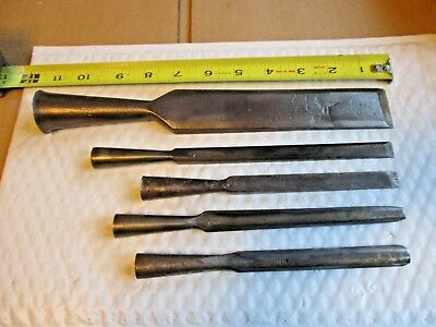 Vintage Socket Chisel Lot, Buck Bros & Unmarked