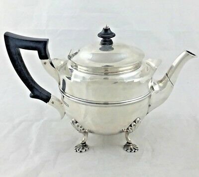 Lovely Unusual Late Victorian Solid Sterling Silver Teapot Sheffield 1900 437 G