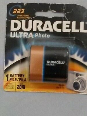 Duracell 223 Ultra Photo 6V  Pile Lithium Battery DL223 EL123P CR-P2 EXP-03/2019