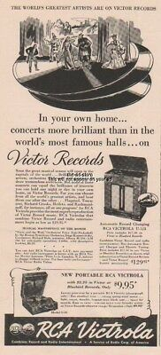 1939 RCA Victrola Portable Model O 10 Automatic Record Changing U123 Print Ad