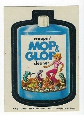 1974 Topps Wacky Packages 8th Series 8 MOP & GLOP CLEANER ex- o/c