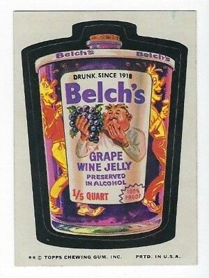 1974 Topps Wacky Packages 9th Series 9 BELCH'S GRAPE WINE JELLY nm-