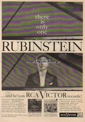 1956 Artur Rubinstein RCA Victor LP Records LM 1908 LM 1892 Vintage 50s Photo Ad
