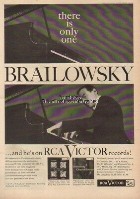 1956 Alexander Brailowsky RCA Victor LP Records LM 1918 LM 1866 Vintage Ad