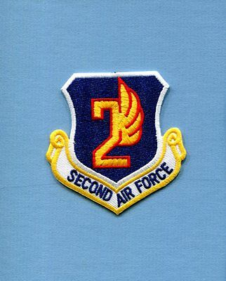 2nd AIR FORCE USAF SQUADRON COMMAND Hat Jacket Patch