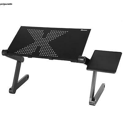 Black 360°Adjustable Folding Laptop Table Lap Desk Bed Computer Tray Stand P84D