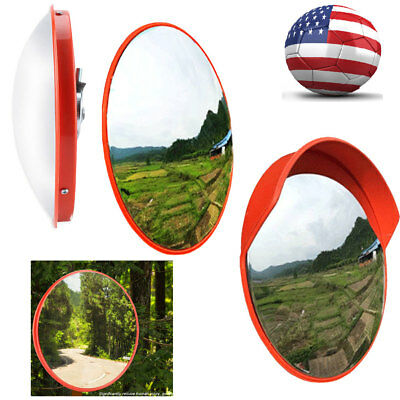 Outdoor Wide Angle Security Curved Convex Road Safety Traffic Mirror Driveway US
