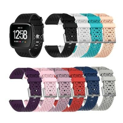 S/L Replacement Band For Fitbit Versa Fabric Luxury Watch Sports Strap Wristband