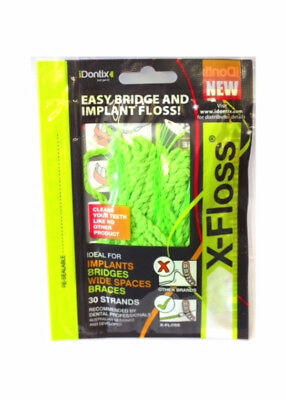 iDONTIX X-FLOSS 30 STRANDS easy bridge and implant floss