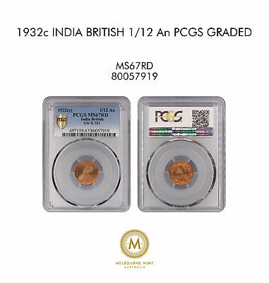 1932c India British 1/12 An PCGS GRADED - MS67RD - #919