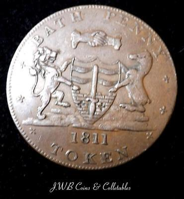 1811 Bath One Penny Token S.Whitchurch And W.Done