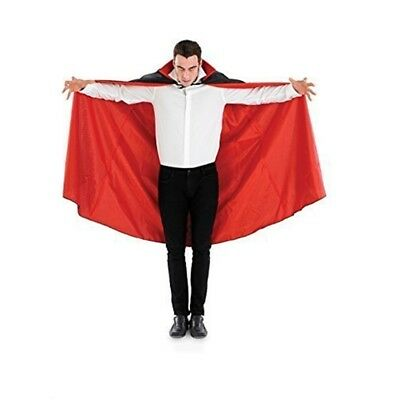 Fun Shack Adult Vampire Cape - Black Costume Cloak Fancy Dress Dracula Red Men