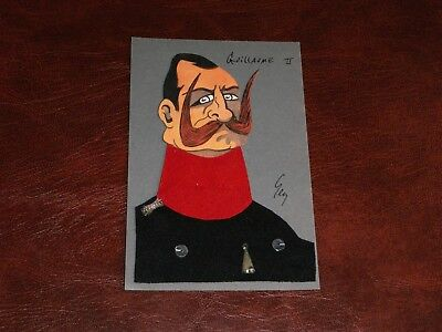 Original Wwi Royalty Novelty Applied Postcard - Guillaume Ii, Anti Kaiser Satire