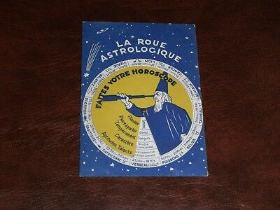 Original French Mechanical Novelty Astrological Postcard - Horoscope, Wizard.