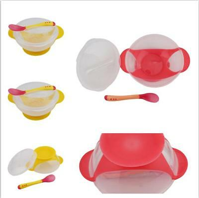 Suction Cup Baby/Toddler Weaning Feeding/Food/Bowls & Soft Spoons Set LC