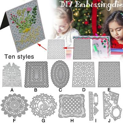 Cutout Pattern Card Series Greeting Album DIY Craft Carbon Steel Embossing Die