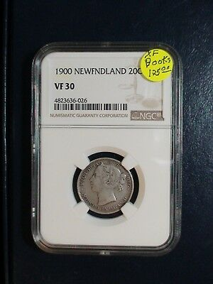 1900 NEWFOUNDLAND Twenty Cents NGC VF30 SILVER 20C Coin PRICED TO SELL!