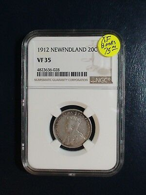 1912 NEWFOUNDLAND Twenty Cents NGC VF35 SILVER 20C Coin PRICED TO SELL!