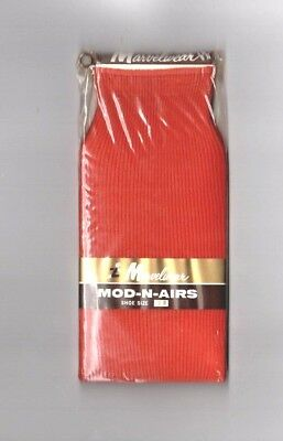 VINTAGE Marvelwear, Mens Socks, Terracotta,Retro 60's 70's New in Pack
