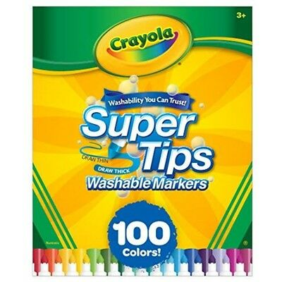 Crayola Super Tips Washable 100 Count Markers - Markerspkg