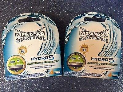 8 Wilkinson Sword Hydro 5 Groomer Power Select Rasierklingen Ersatz 2 x 4er