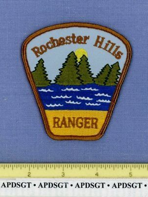 ROCHESTER HILLS RANGER MICHIGAN Sheriff Police Patch LAKE TREES 3.5""