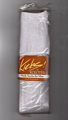 VINTAGE Kolortex, Men's Walk Socks, Light Grey, Retro 60's 70's New in Pack