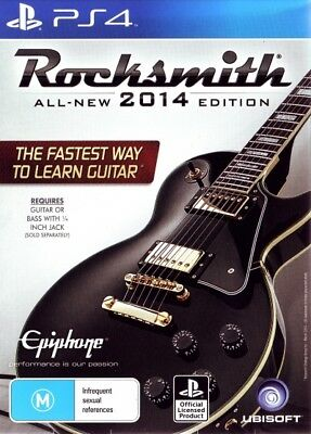 Rocksmith 2014 With Real Tone Cable PS4 PlayStation 4 Game (PAL) New!!
