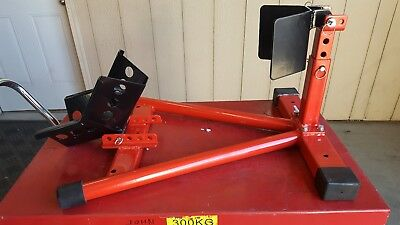 Dragway Tools 1500 lb Fully Adjustable Motorcycle Wheel Chock Stand