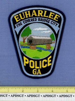EUHARLEE GEORGIA Sheriff Police Patch OLD COVERED BRIDGE STONE  SUPPORTS