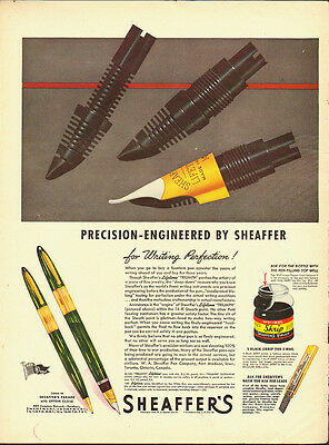 "1944 Vintage ad for SHEAFFER""S Pen~Large pens (120312)"