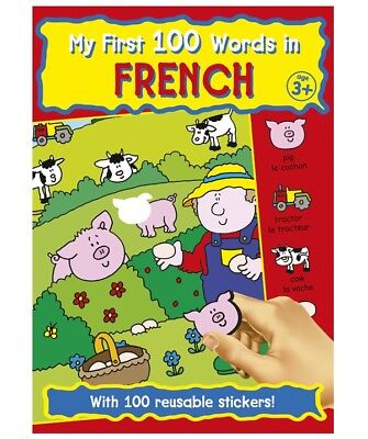 My First Learn 100 Words In French Sticker Colouring Book Childrens Educational