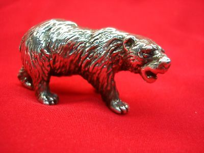 Sterling Silver Bear Figurine - Great Gift For The Stock Broker, Etc.