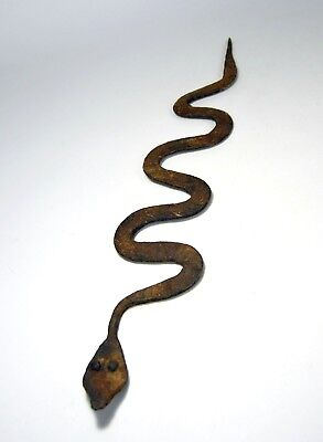 An Old Lobi Iron Currency Snake, Serpent, African Tribal Art