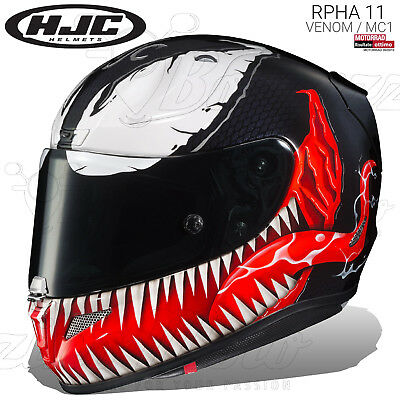 Casco Integrale Hjc Rpha 11 Limited Edition Venom Mc1 Marvel 2019 Moto Pinlock