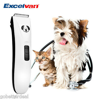 Electric Pet Dog Cat Hair Trimmer Shaver Razor Grooming Clipper Rechargeable USA
