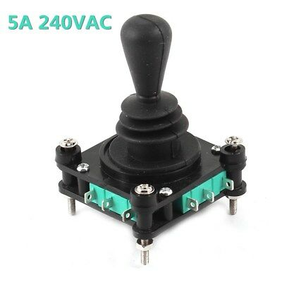1Pcs AC 240V 5A 4NO 4NC Momentary 2.5mm Fixing Thread Game Joystick Switch