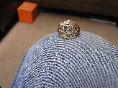 World War 2 United States Navy Sterling Silver Ring
