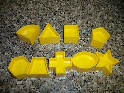 Vintage Tupperware Shape-O Ball 9 Replacement Shapes missing #1