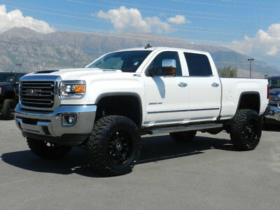 GMC Sierra 2500HD  LIFTED GMC CREW CAB SLT 4X4 DURAMAX DIESEL CUSTOM NEW WHEELS TIRES LEATHER NAV