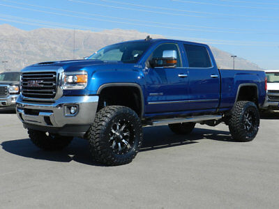 GMC Sierra 2500HD SLT LIFTED GMC CREW CAB SLT 4X4 DURAMAX DIESEL CUSTOM WHEELS TIRES NAV I LEATHER TOW