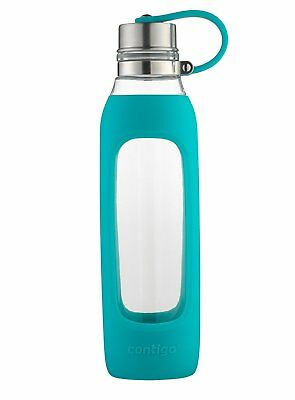 Roll over image to zoom in Contigo Purity Glass Water Bottle, 20 oz, Scuba With