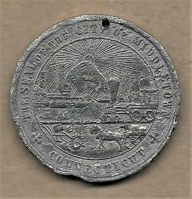 1884 So-Called Dollar Middletown, Connecticut 100Th Anniversary Rare Medal