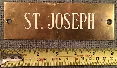 Very Rare Find Original Antique Bronze Plaque St. Joseph C1870