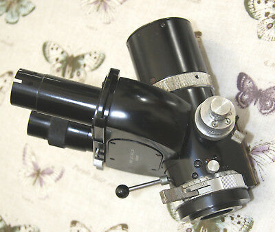 Leitz Ortholux I Pol Microscope Trinocular Head with Built in Rotating Analyser