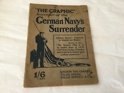 Ww1 1918 The Graphic Souvenir Magazine German Navy's Surrender Original