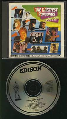 Greatest Pop Songs Of The 80S Edison 1985 Cd Dire Straits  Frida Phil Collins