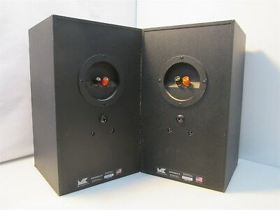 MK Miller Kreisel Bookshelf 75 Speakers Pair Black Parts Or Repair