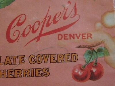 OLD vintage box,Cooper's Chocolate Covered Cherries, DENVER