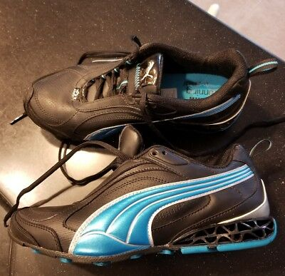 5255609e601d12 Puma Cell Eco Ortholite Running Black Teal Athletic Womens Shoes Size 6.5  Girls